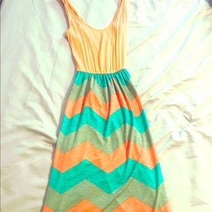 Filly Flair Orange and Turquoise Dress